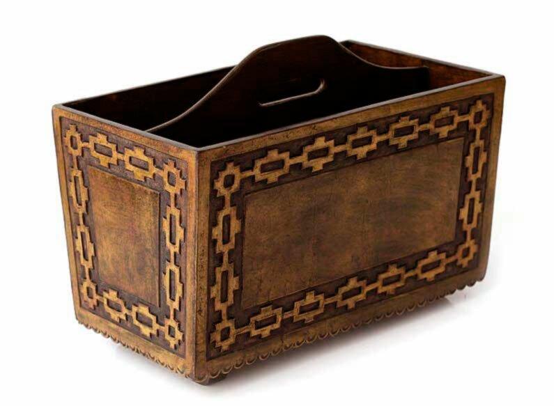 World Menagerie Manderella Inca Link Leather Magazine Rack Wayfair