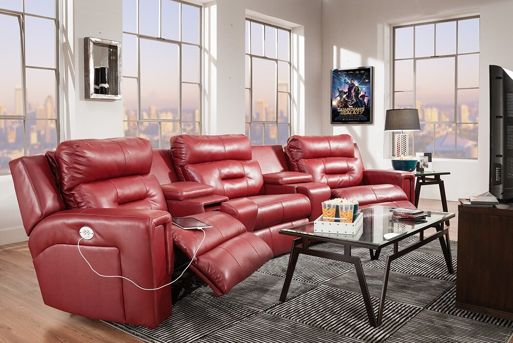 Southern Motion Excel Home Theater Sofa | Wayfair