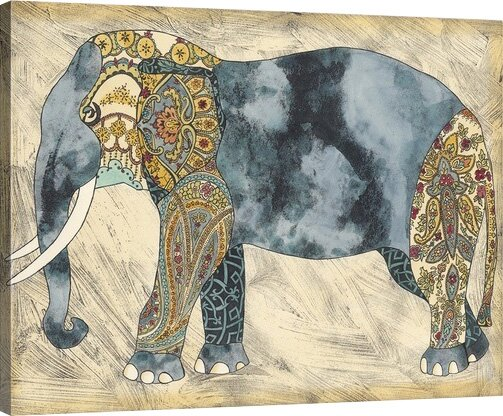 'Royal Elephant' Print - Boho Chic Elephant Decor | Boho Wall Decor