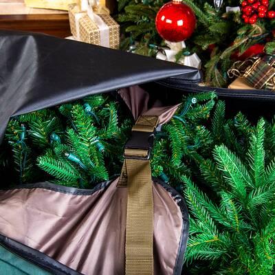 Elf Stor Premium Green Rolling Duffle Bag Christmas Tree Storage Bag ... 3aea4d7a2e0be