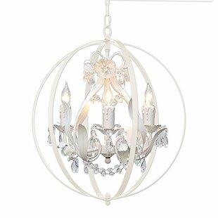 Foucault orb chandelier wayfair hackford floral orb 4 light mini chandelier aloadofball Image collections