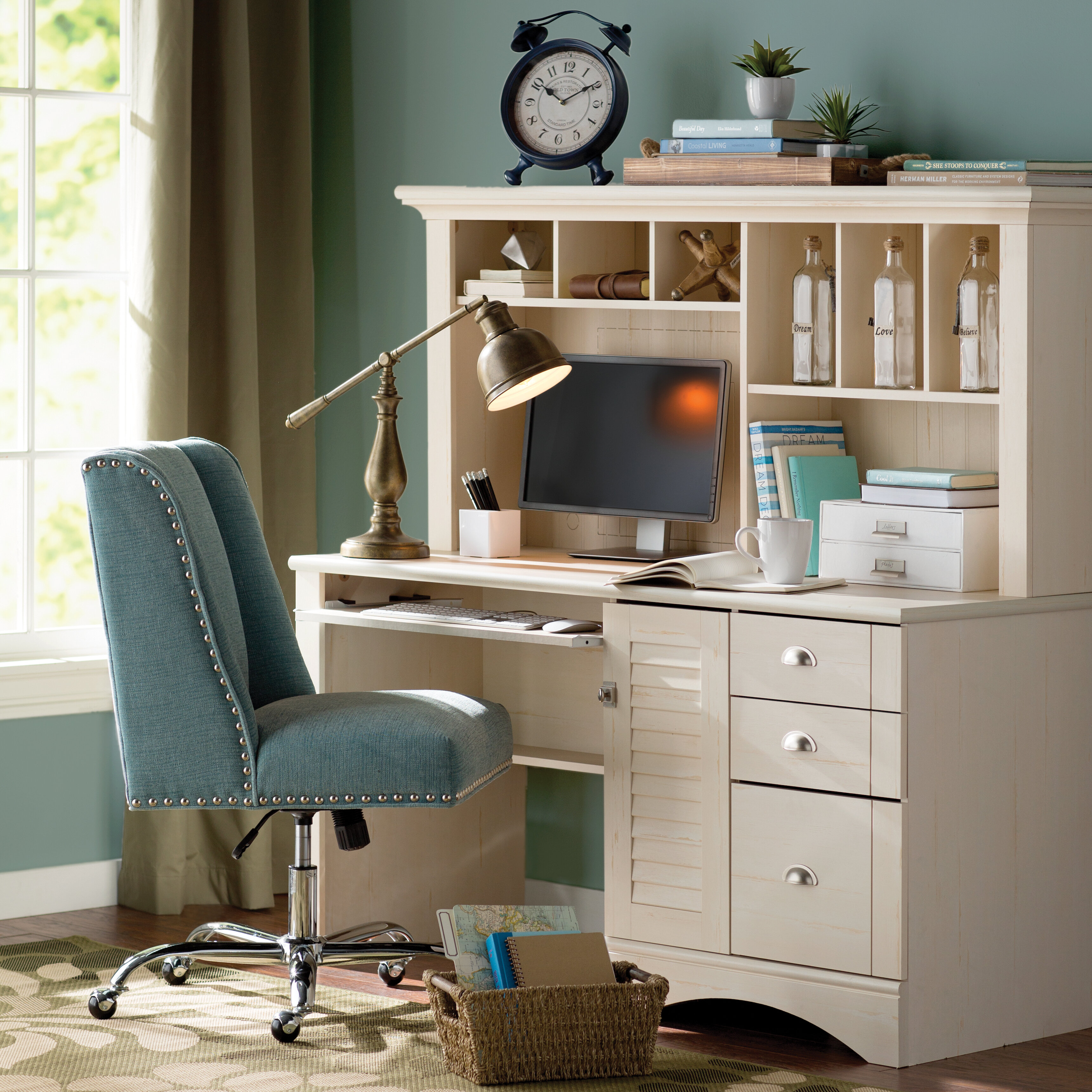Beachcrest Home Pinellas Computer Desk With Hutch U0026 Reviews | Wayfair
