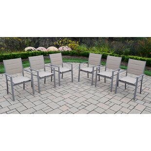 Padded Sling Stacking Patio Dining Chair (Set of 6)