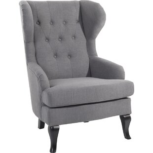 Aleshia Wingback Chair by Home & Haus