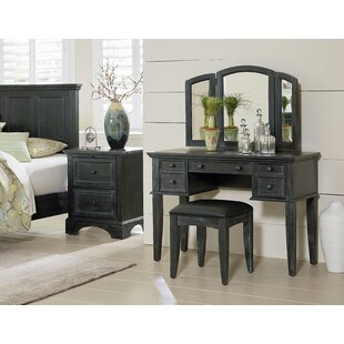 Read Reviews Farmhouse Vanity Set with Mirror by Inspired by Bassett