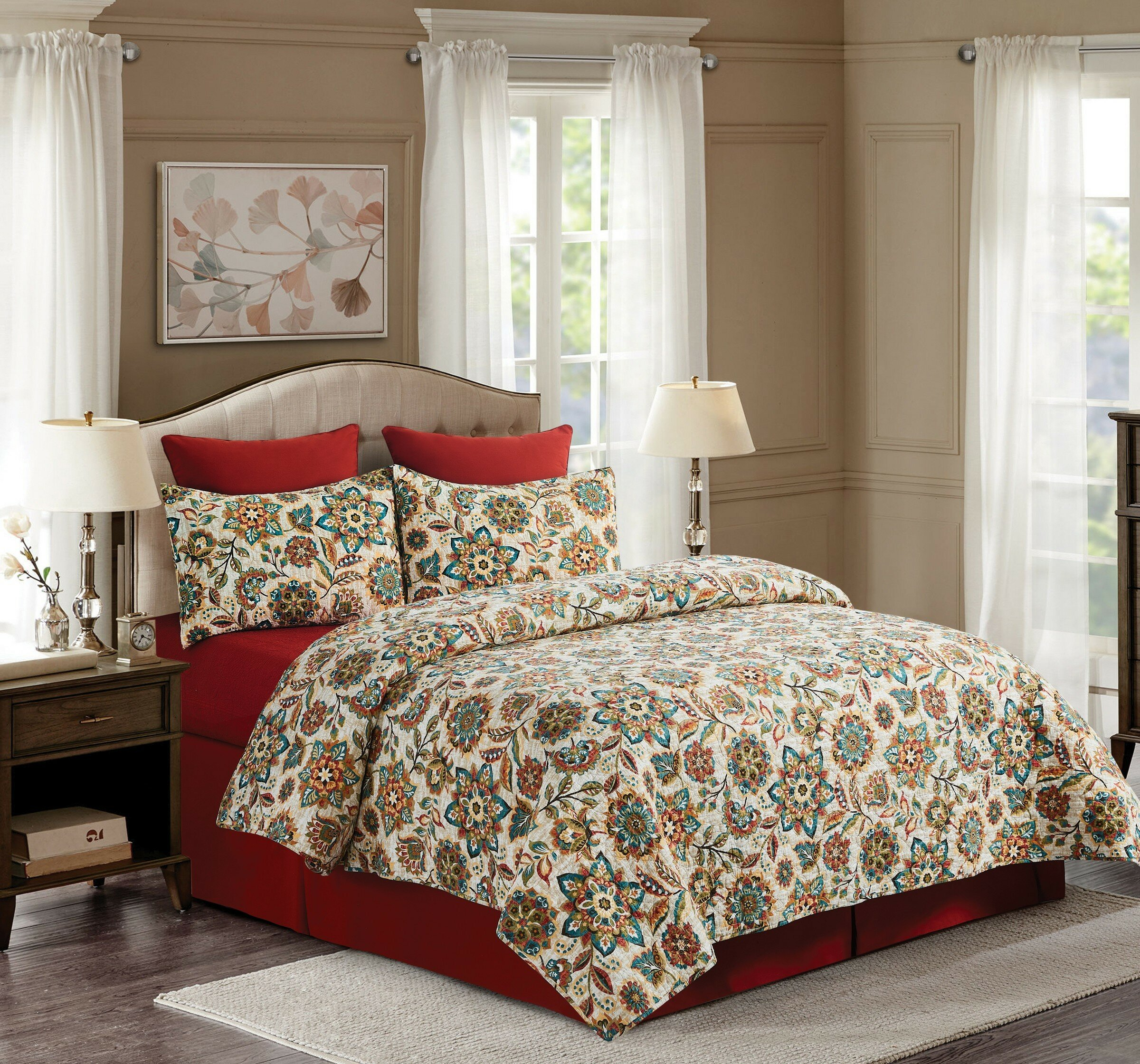 Red Barrel Studio Ecole Reversible Quilt Set Wayfair