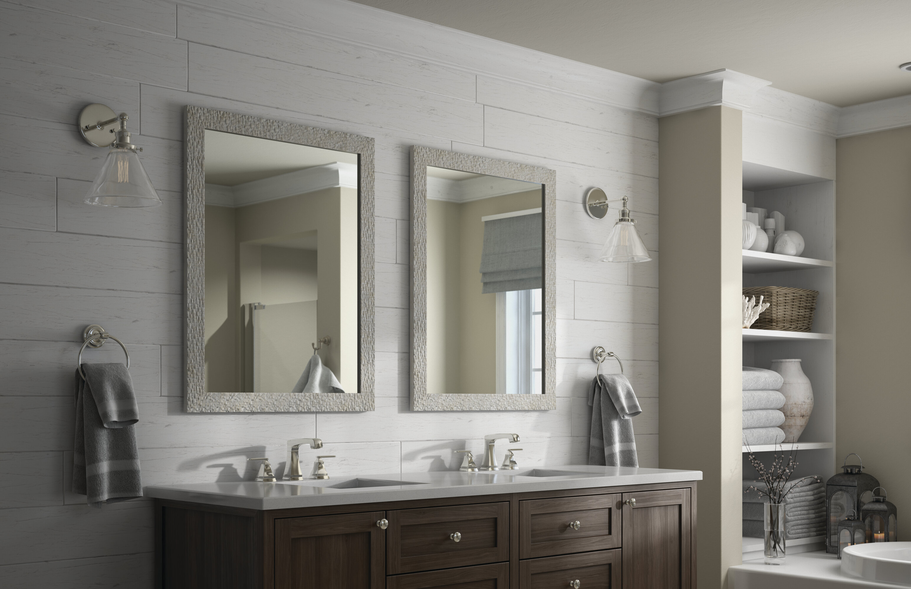 Delta Rectangular Standard Flush Mount Framed Bathroom Vanity Mirror Wayfair