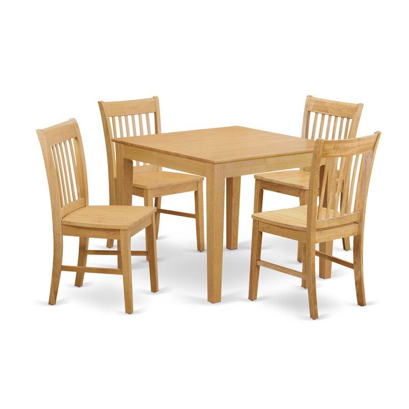 Alcott Hill Cobleskill Rubberwood Solid Wood Dining Set Reviews Wayfair Ca
