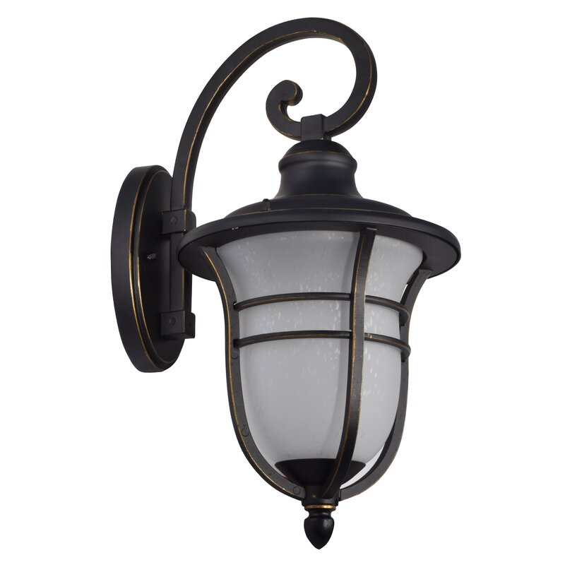 Charlton Home Micaela Led Outdoor Wall Lantern Wayfair