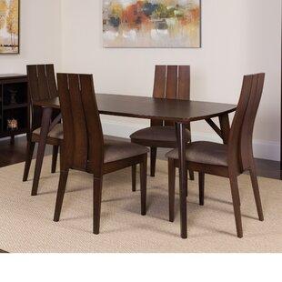 Huggins 5 Piece Solid Wood Dining Set by Winston Porter
