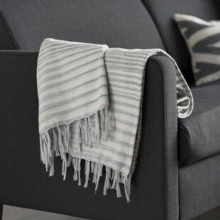 Zenon Cotton Throw Blanket by Mercury Row