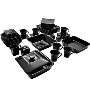 Corrina 45 Piece Square Dinnerware Set Service for 6  sc 1 st  Wayfair & Square Dinnerware Sets Youu0027ll Love | Wayfair