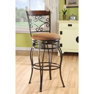 Bartolome Swivel Bar Stool (Set of 2) by Fleur De Lis Living