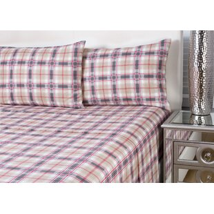 Rousseau 4 Piece Plaid Flannel Sheet Set