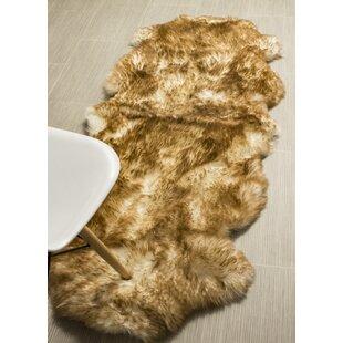 Reviews Cole Genuine Fur Double Pelt Handmade Shag Sheepskin Eclipse Area Rug ByBloomsbury Market