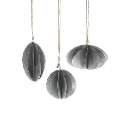 17 Stories 3 Piece Zinc Oval/Round Hanging Figurine Ornament Set