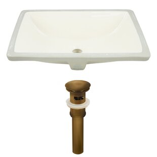 Compare CUPC Ceramic Rectangular Undermount Bathroom Sink with Overflow By Royal Purple Bath Kitchen