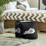 Home Sweet Frankfort Cube Ottoman by East Urban Home
