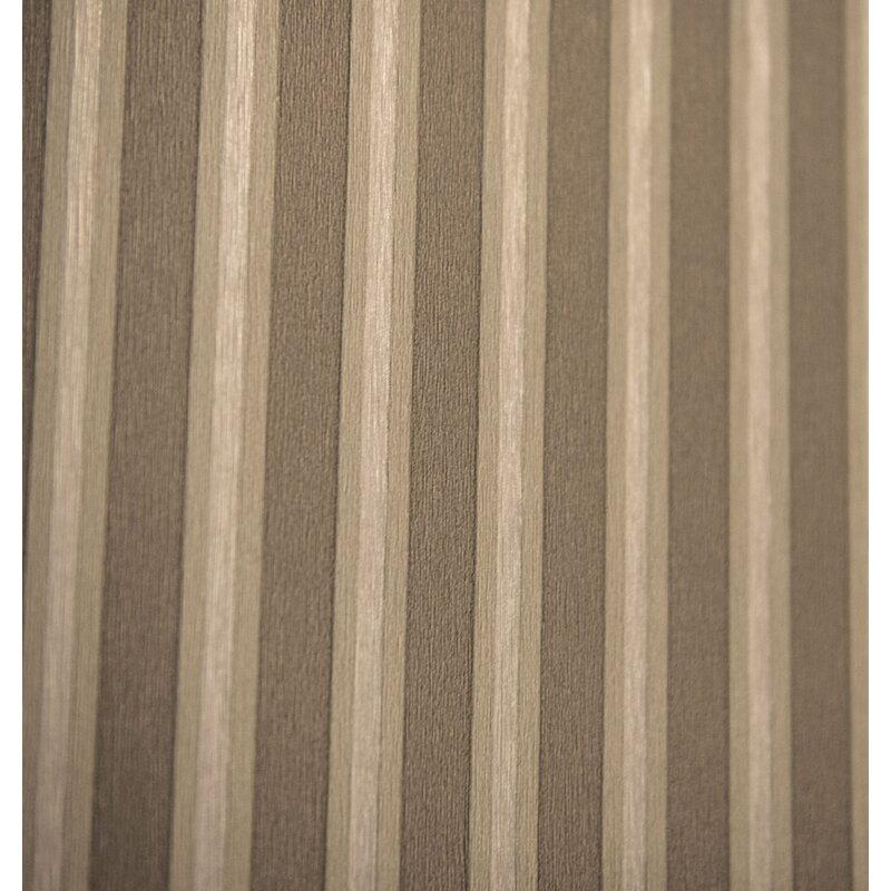 "Charlton Home MoretinMarsh Stripped 33 L x 20.5"" W Textured Wallpaper Roll"