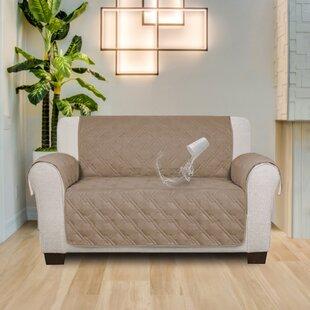 Stupendous Box Cushion Loveseat Slipcover Short Links Chair Design For Home Short Linksinfo