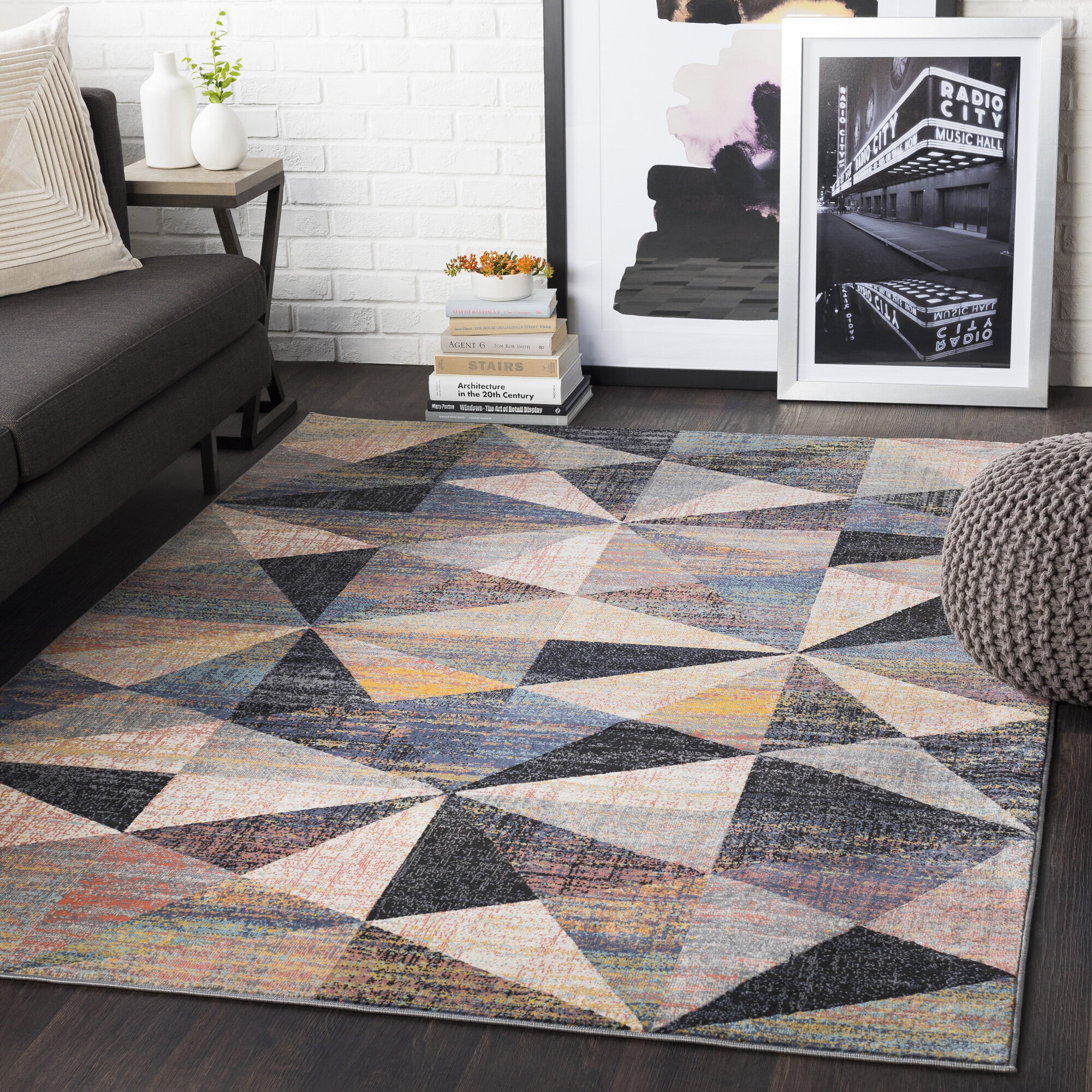 Zipcode Design Tallapoosa Geometric Black Beige Area Rug Reviews Wayfair
