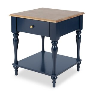 Sophia Wood Top 1 Drawer Nightstand