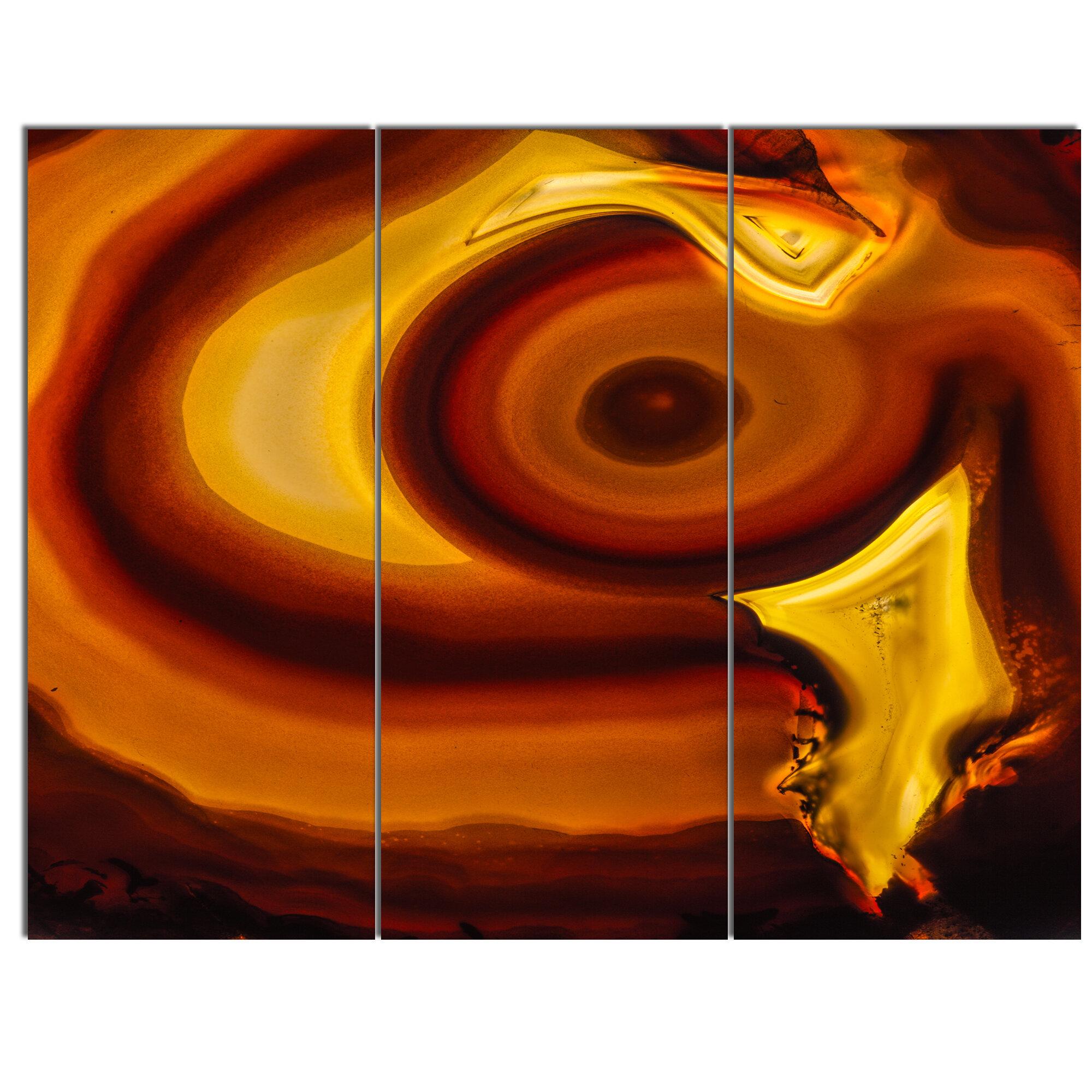 Designart Agate Geode Slice Macro 3 Piece Graphic Art On Wrapped Canvas Set Wayfair