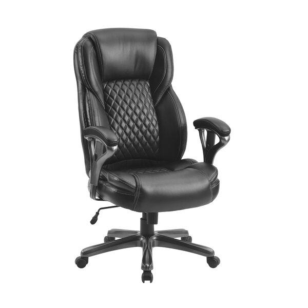 Inbox Zero Homeoffice Big And Tall Pu Leather Office Chair Ergonomic Computer Chair High Back Pu Executive Chair Black Wayfair