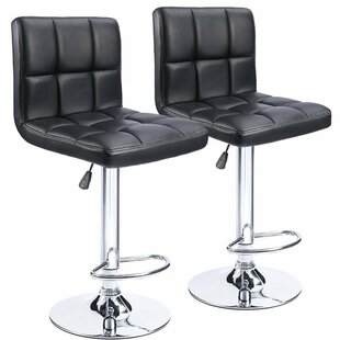 Ferry Adjustable Height Swivel Bar Stool (Set of 2) Wrought Studio