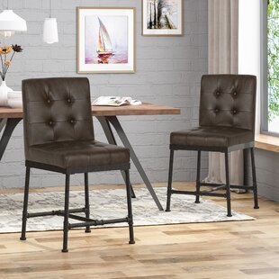 Tracy Industrial Modern 24 Bar Stool (Set of 2) 17 Stories