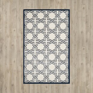 McArthur Power Loomed Ivory/Navy Indoor/Outdoor Area Rug