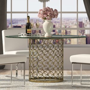 Glass Dining Room Tables glass kitchen & dining tables you'll love | wayfair