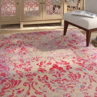 Fujii Beige/Pink Area Rug by Bungalow Rose