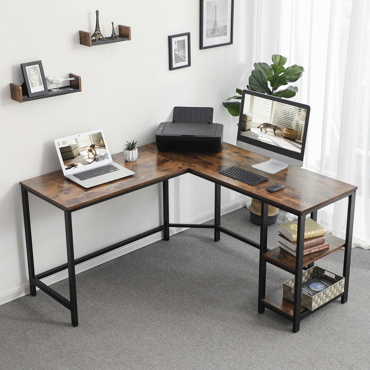 Williston Forge Enprise L Shape Desk Reviews Wayfair