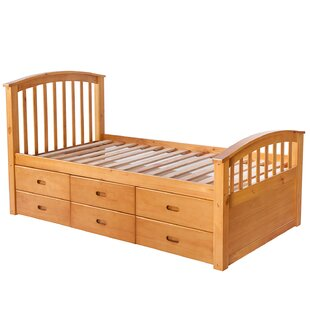 Achouhada Twin Platform Bed with 6 Drawers