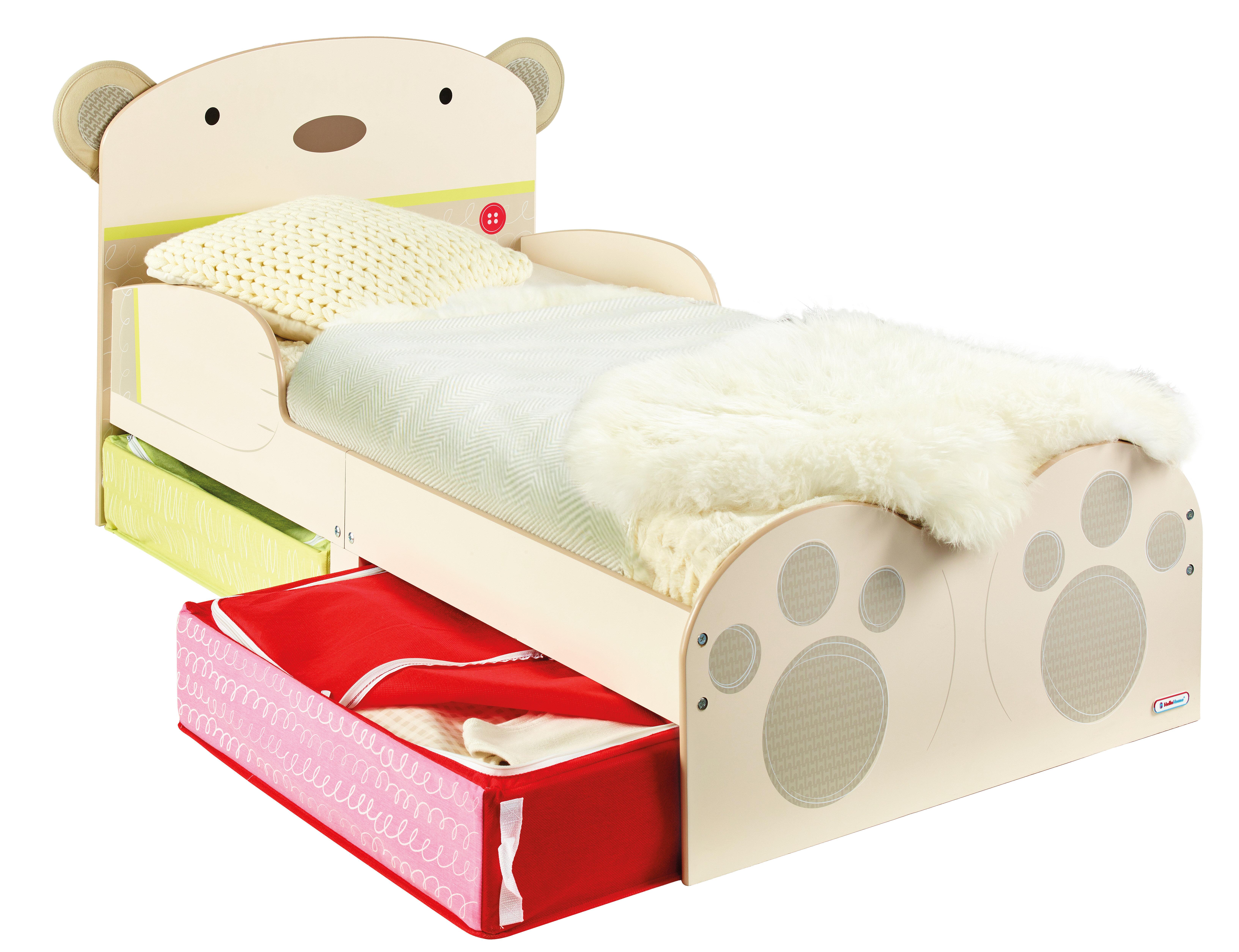 sc 1 st  Wayfair & Hello Home BearHug Toddler Bed with Underbed Storage | Wayfair.co.uk