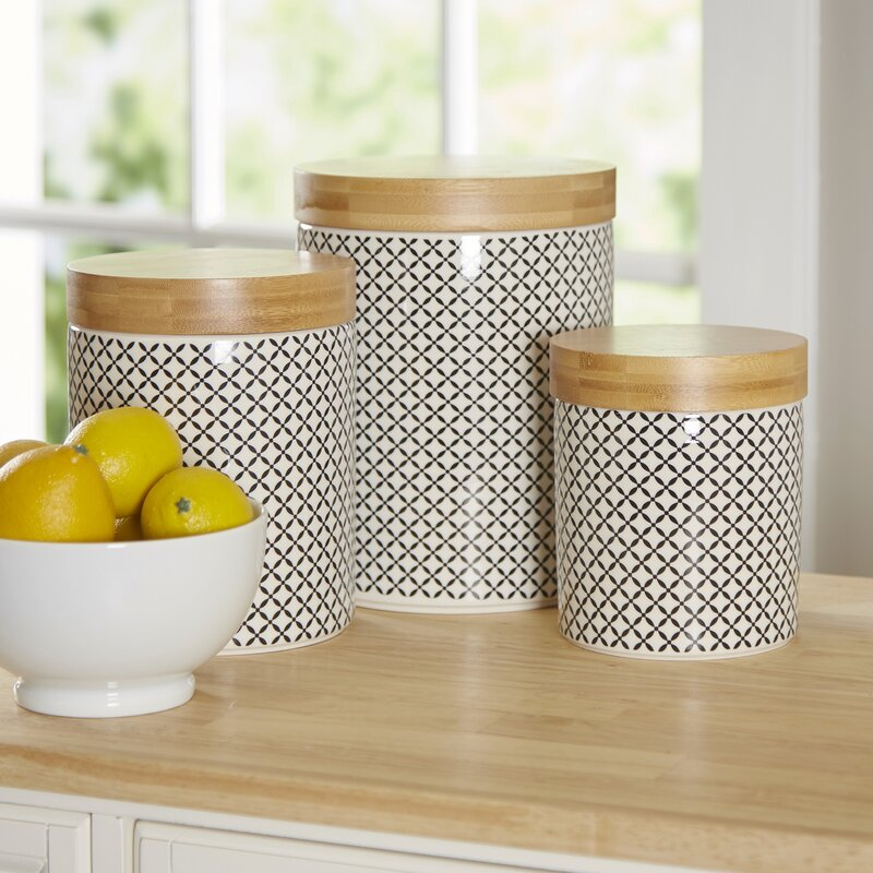 Beautiful Wilshire 3 Piece Kitchen Canister Set