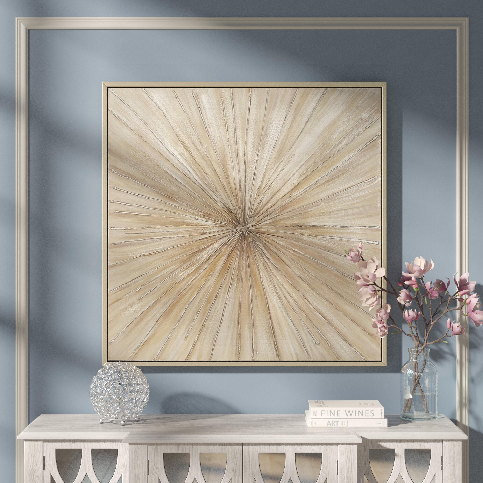 Greyleigh Contemporary Bursting Framed Graphic Art Print On Canvas Reviews Wayfair