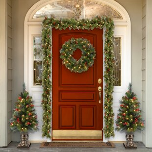 Outdoor Prelit Christmas Wreaths You Ll Love In 2019 Wayfair