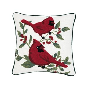 Rosenbalm Cardinal Berry Throw Pillow