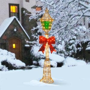 Disney Mickey Mouse Lamp Post Christmas Decoration