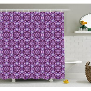 Beamond Abstract Mosaic Style Shower Curtain + Hooks