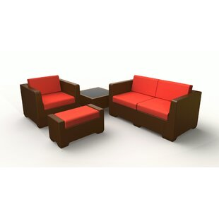 Sturtevant 4 Piece Sofa Set with Cushions