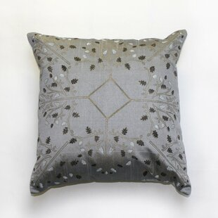 Wym Hand Block Print Indoor Silk Throw Pillow