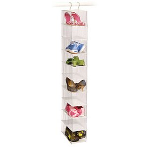 Inexpensive Clear Vinyl Storage 10-Compartment Hanging Shoe Organizer By Richards Homewares