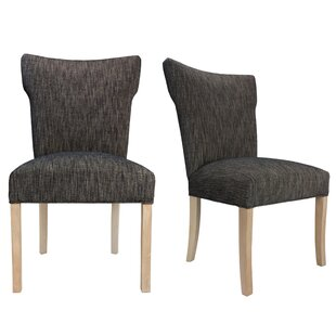 Bella Lucky Spring Seating Double Dow Upholstered Side Chair (Set of 2) Sole Designs