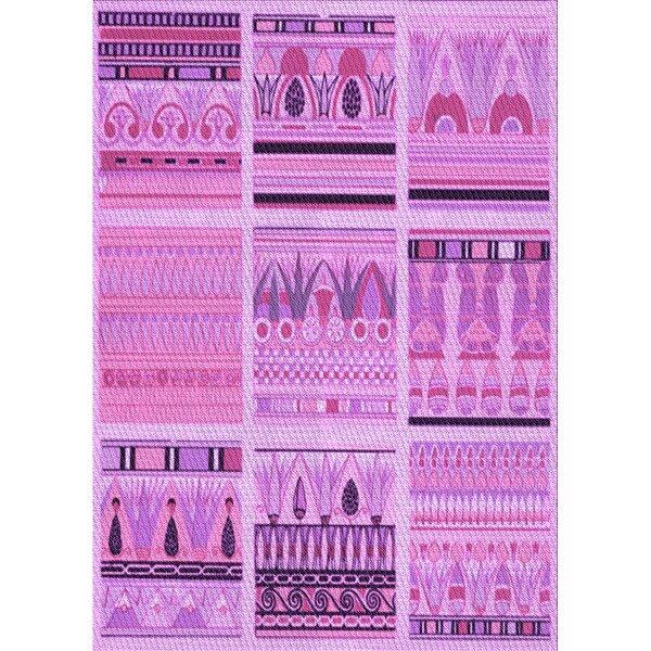 East Urban Home Patchwork Wool Purple Area Rug Wayfair