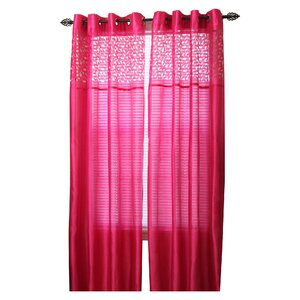 Bartsch Solid Sheer Grommet Single Curtain Panel