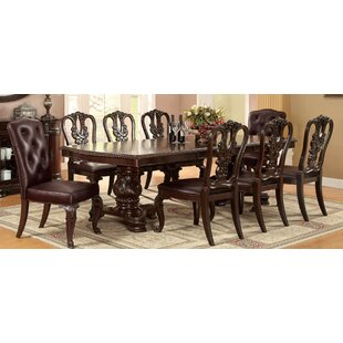 9 Piece Extendable Dining Set Hokku Designs