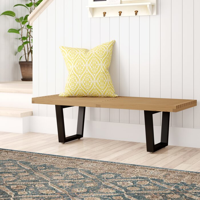 Groovy Brenford Wood Bench Dailytribune Chair Design For Home Dailytribuneorg